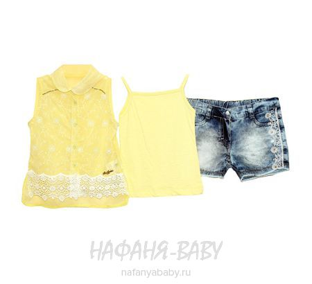 Детский костюм MISS MARINE арт: 0527, штучно, 1-4 года, цвет желтый с синим, размер 92, оптом Турция