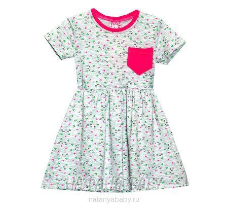 Детское платье, артикул 4066 Cit Cit арт: 4066, цвет серый меланж с розовым, оптом Турция