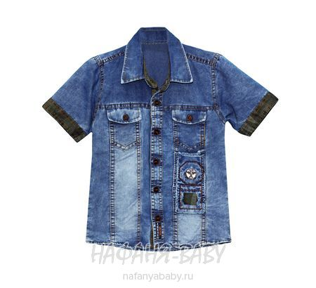 Детская джинсовая рубашка ZEISER арт: 1010, 1-4 года, цвет синий, оптом Турция