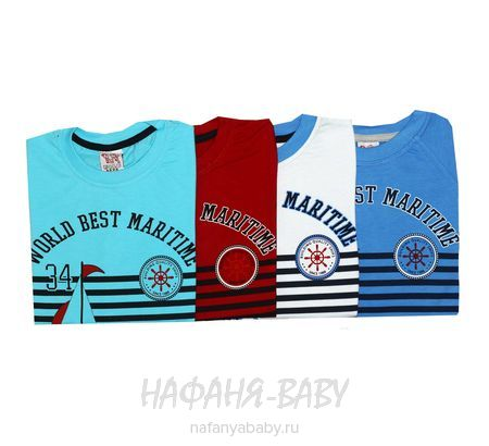 Детская футболка, артикул 2112 USLU BEBE арт: 2112, 1-4 года, 5-9 лет, цвет синий, оптом Турция