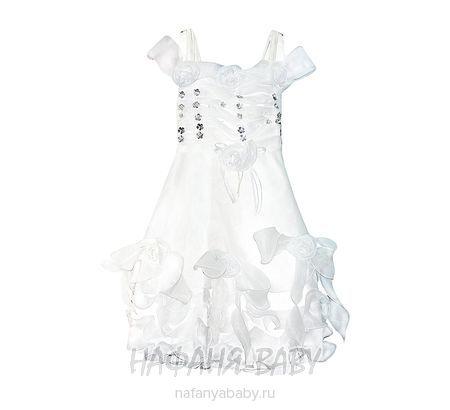Детское нарядное платье  арт: 1013, 1-4 года, 5-9 лет, цвет белый, оптом Китай (Пекин)