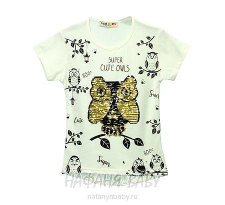 Детская футболка, артикул 2206 YZR арт: 2206, цвет коралловый, оптом Турция