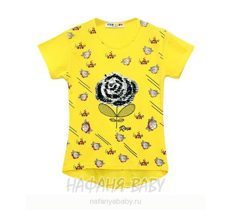 Детская футболка YZR арт: 2202, штучно, цвет кремовый, размер 140, оптом Турция