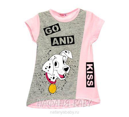 Детская трикотажная туника LILY Kids арт: 3604, 5-9 лет, цвет розовый, оптом Турция