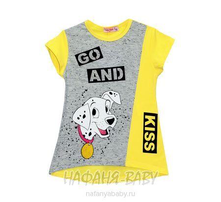 Детская трикотажная туника LILY Kids арт: 3604, 5-9 лет, цвет желтый, оптом Турция