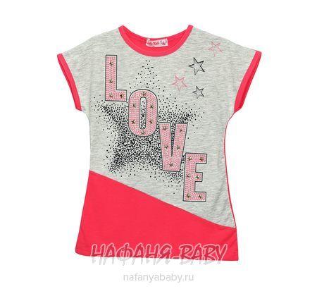Детская футболка LILY Kids арт: 3610, 5-9 лет, цвет малиновый, оптом Турция