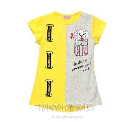 Детская трикотажная туника, артикул 3603 LILY Kids арт: 3603, цвет малиновый, оптом Турция
