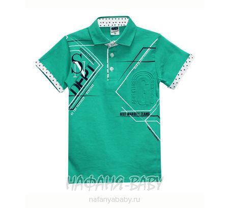 Детская рубашка-поло RCW арт: 6437, 10-15 лет, цвет зеленый, оптом Турция