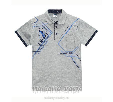 Детская рубашка-поло RCW арт: 6437, 10-15 лет, цвет темно-синий, оптом Турция
