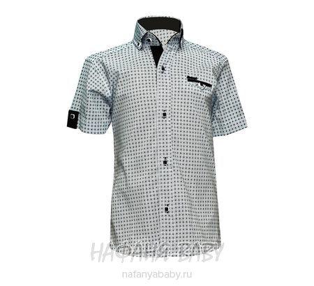 Детская рубашка NORMANI арт: 339 10-14, штучно, 10-15 лет, цвет белый, вставки темно-серый, размер 146, оптом Турция