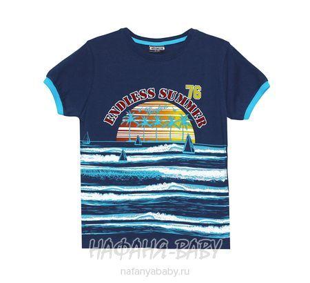 Детская футболка GOKMETE арт: 7865, 1-4 года, 5-9 лет, цвет темно-синий, оптом Турция
