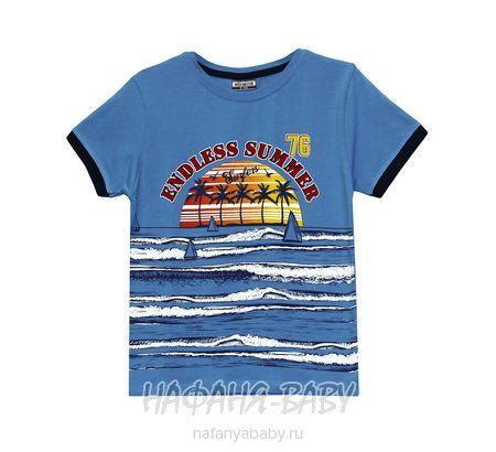 Детская футболка GOKMETE арт: 7865, 1-4 года, 5-9 лет, цвет серо-голубой, оптом Турция