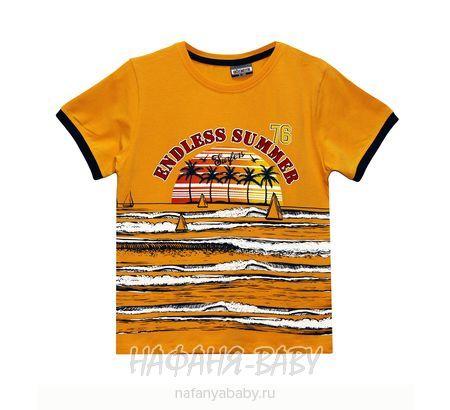 Детская футболка GOKMETE арт: 7865, 1-4 года, 5-9 лет, цвет горчичный, оптом Турция
