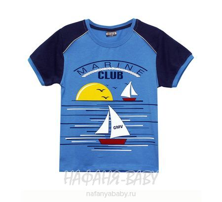 Детская футболка, артикул 7861 GOKMETE арт: 7861, 5-9 лет, 1-4 года, цвет лазурный, оптом Турция