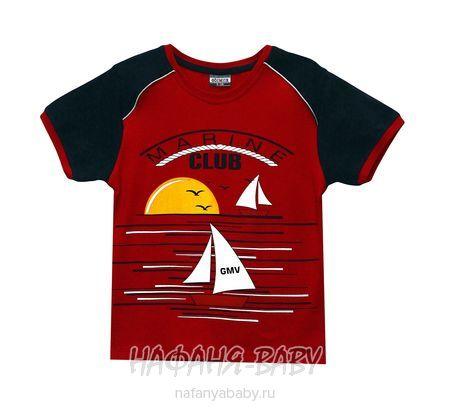 Детская футболка GOKMETE арт: 7861, 1-4 года, 5-9 лет, цвет бордовый, оптом Турция