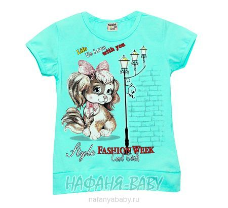 Детская футболка NARMINI арт: 5544, 1-4 года, 5-9 лет, цвет розовый, оптом Турция