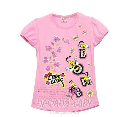 Детская футболка NARMINI арт: 5586, 1-4 года, 5-9 лет, цвет розовый, оптом Турция