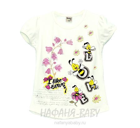 Детская футболка NARMINI арт: 5586, 1-4 года, 5-9 лет, цвет кремовый, оптом Турция