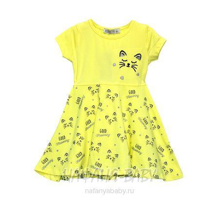 Детское трикотажное платье TOONTOY арт: 10831, 1-4 года, цвет желтый, оптом Турция