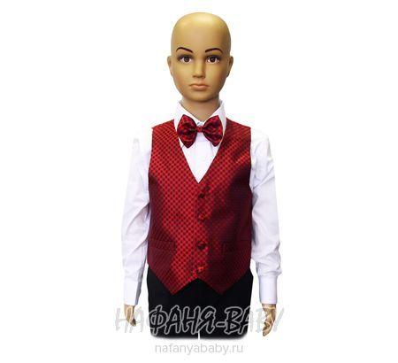 Детский костюм-тройка (жилет+рубашка+бабочка+брюки) YOUNG DANDY арт: 265, штучно, 1-4 года, оптом Китай(Пекин)