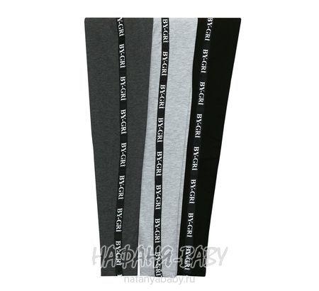 Детские утепленные лосины BY GRI арт: 14800, 5-9 лет, 10-15 лет, цвет темно-серый меланж, оптом Турция