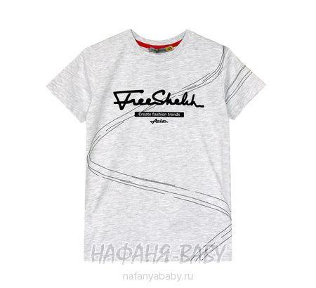 Подростковая футболка F.K. арт: 1502, 10-15 лет, 5-9 лет, цвет серый меланж, оптом Турция