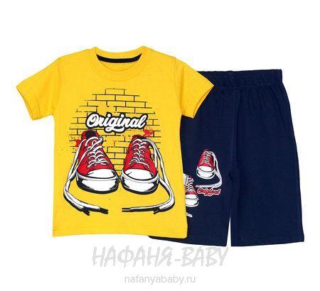 Детский костюм (футболка+шорты) MIXIMA арт: 1506, 5-9 лет, 1-4 года, цвет желтый, оптом Турция