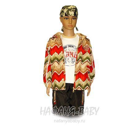 Детский костюм AIMICO арт: 1509, 1-4 года, цвет куртка- красный с коричневым и зеленым, оптом Китай (Пекин)