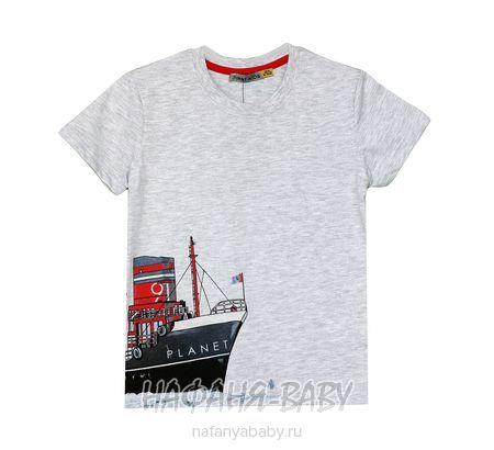 Детская футболка F.K. арт: 1520, 1-4 года, цвет серый меланж, оптом Турция