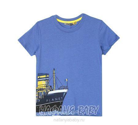 Детская футболка F.K. арт: 1520, 1-4 года, цвет сине-серый, оптом Турция