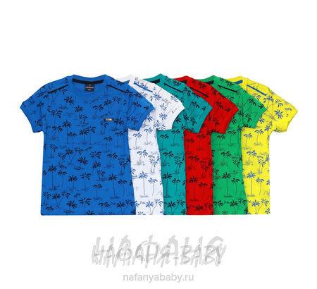 Детская футболка HEBUN арт: 16401, штучно, 5-9 лет, цвет зеленый, размер 104, оптом Турция