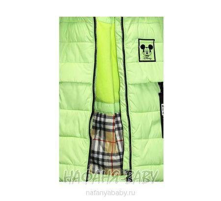 Детская удлиненная зимняя куртка YINUO арт: 1833, штучно, 5-9 лет, цвет светлый зеленый, размер 104, оптом Китай (Пекин)
