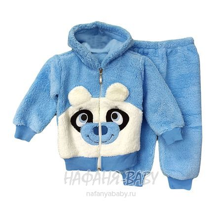 Детский утепленный костюм MICHO арт: 2010, 1-4 года, цвет голубой с белым, оптом Турция