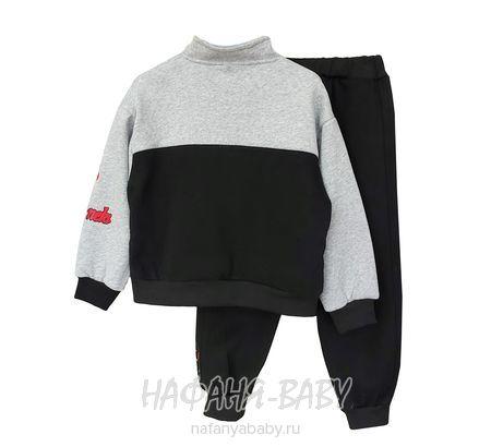 Детский утепленный костюм MLNZ арт: 2010, 5-9 лет, 1-4 года, цвет черный с серым, оптом Китай (Пекин)