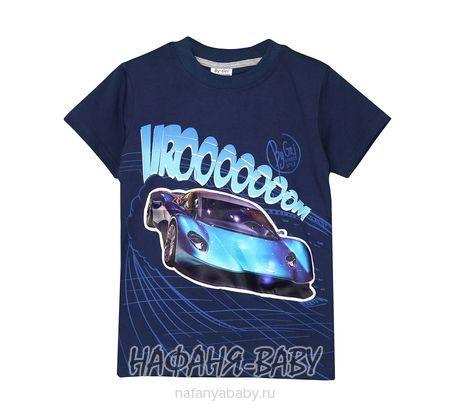 Детская футболка с мигающими элементами BY GRI арт: 20255, 5-9 лет, цвет темно-синий, оптом Турция