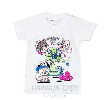 Детская футболка HASAN Bebe арт: 2031, 1-4 года, цвет белый, оптом Турция