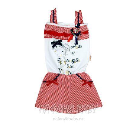 Детские песочник CICIX арт: 424, штучно, 0-12 мес, цвет верх-белый,низ-в красную полоску, размер 62, оптом Турция