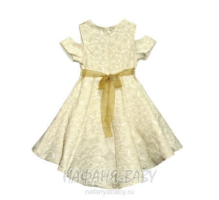 Детское нарядное платье с паетками-перевертышами SOFIA арт: 2379, 5-9 лет, цвет бежевый, оптом Турция