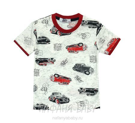 Подростковая футболка KLAS арт: 4633, 5-9 лет, 10-15 лет, цвет бежевый меланж, оптом Турция