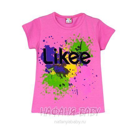 Детская футболка BASAK арт: 2664, 5-9 лет, цвет розовый, оптом Турция