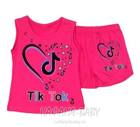 Детский костюм (майка+шорты) DJW арт: 2671, 5-9 лет, цвет малиновый, оптом Турция