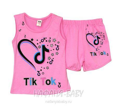 Детский костюм (майка+шорты) DJW арт: 2671, 5-9 лет, цвет розовый, оптом Турция