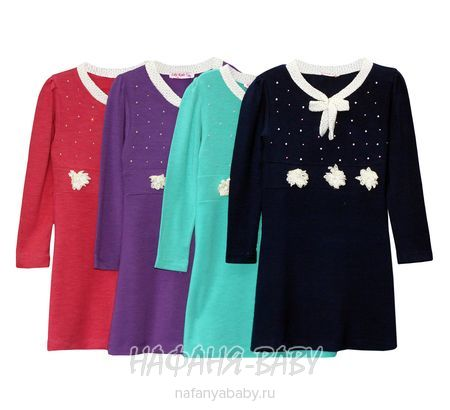 Детское платье LILY KIDS арт: 2700, штучно, 1-4 года, цвет темно-синий, размер 104, оптом Турция
