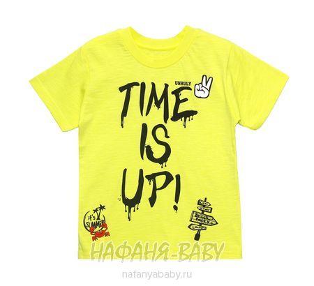 Детская футболка UNRULY арт: 2932, 5-9 лет, цвет желтый, оптом Турция