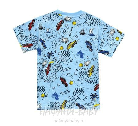 Детская футболка UNRULY арт: 2936, 1-4 года, 5-9 лет, цвет голубой, оптом Турция
