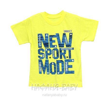 Детская футболка UNRULY арт: 2942, 1-4 года, 5-9 лет, цвет желтый, оптом Турция