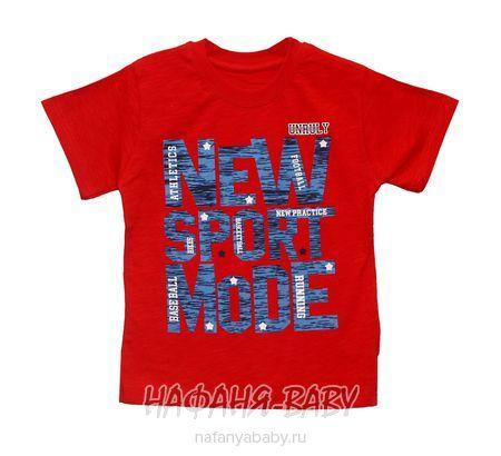 Детская футболка UNRULY арт: 2942, 1-4 года, 5-9 лет, цвет красный, оптом Турция