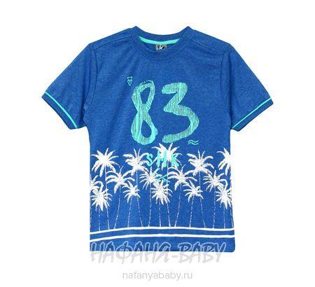 Подростковая футболка MAGO арт: 3023, штучно, 10-15 лет, цвет серо-голубой меланж, размер 140, оптом Турция