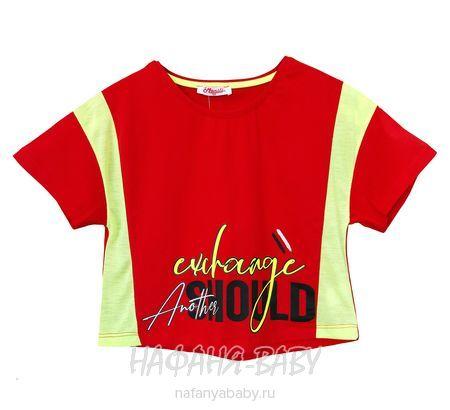 Модный кроп-топ MONILI арт: 3037, 10-15 лет, 5-9 лет, цвет красный, оптом Турция