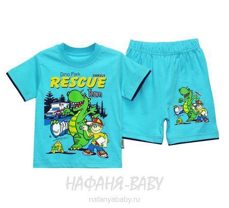 Детский костюм (футболка+шорты) UNRULY арт: 3059, 1-4 года, 5-9 лет, оптом Турция